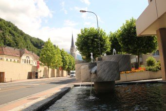 Fountain at Vaduz