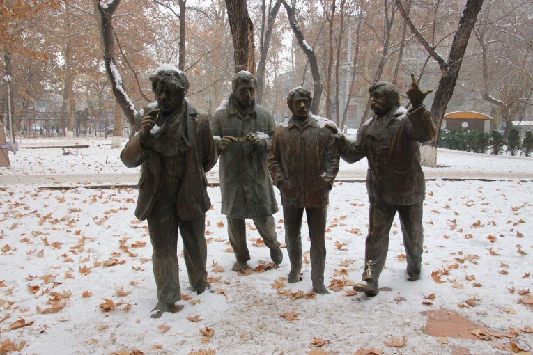 Sculpture group of men
