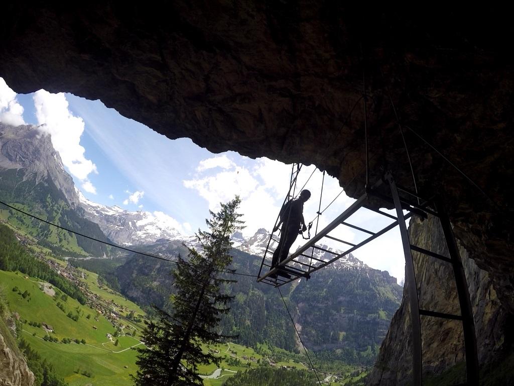 Klettersteig Allmenalp : Allmenalp kandersteg klettersteig