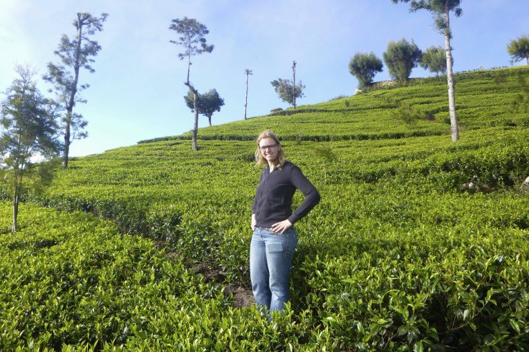 Me walking at the tea plantations