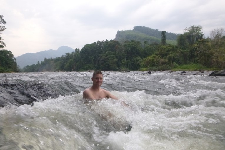 Swiming in the river
