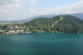 bled view from castle