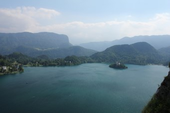 Bled, view from castle at lake