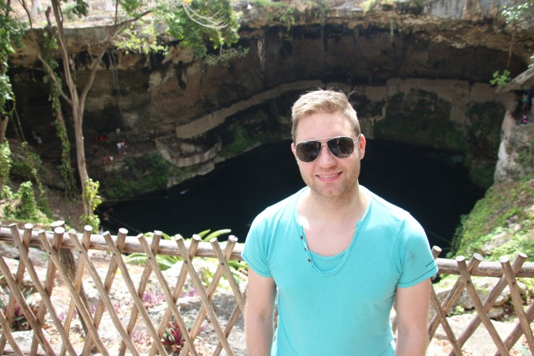 view from Zaci cenote