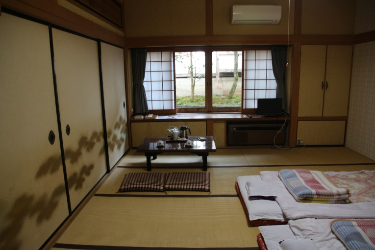 Traditional room with futon beds.