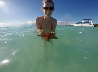 The 2nd time at Piscina Natural we spotted a starfish.