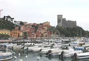 Lerici, harbour and view castle