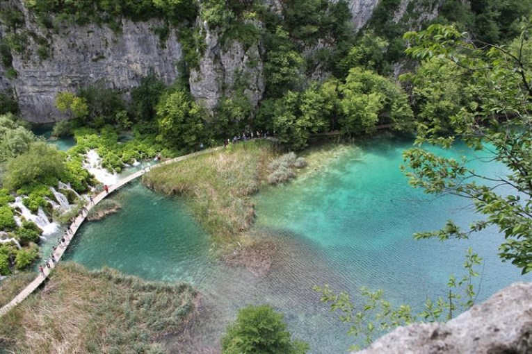 Plitvice lakes, view from top