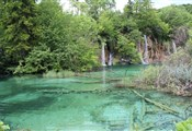 Plitvice lakes, clear blue waters!