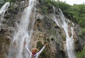 Plitvice lakes, Big waterfall me jumping